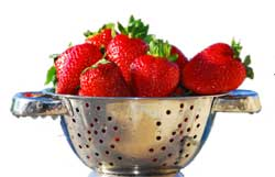 Berries in Colander