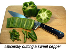 Cutting a Bell Pepper