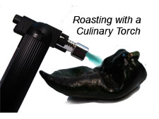 Roasting Peppers with a Culinary Torch