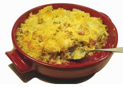 Casserole in Red Dish