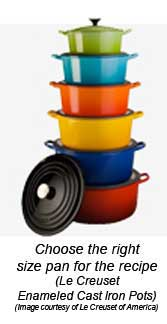 Tower of Le Creuset Pots