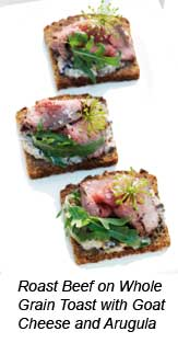 E news holiday entertaining for Roast beef canape
