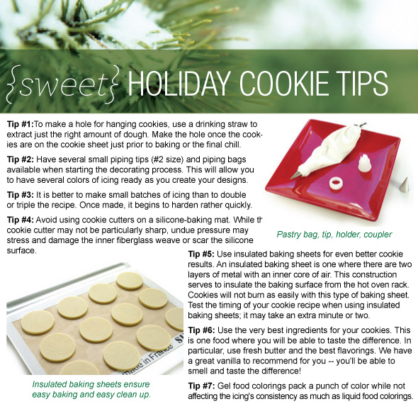 Tips that turn your cookies into wonderfully beautiful cookies!