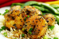 Sesame-Orange Shrimp