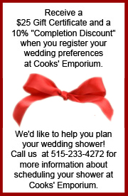 Wedding Registry Coupon and Wedding Showers
