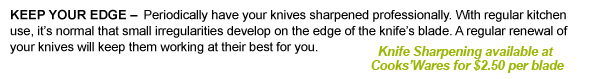 Keep your Knives sharp!