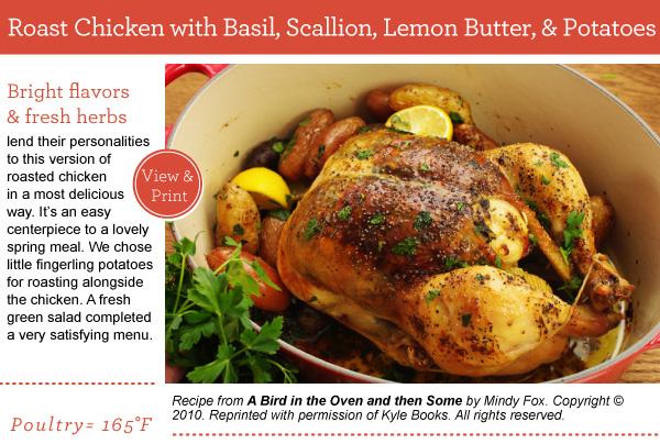 Recipe: Roast Chicken with Basil, Scallion, Lemon Butter, & Potatoes
