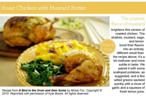 Recipe: Roast Chicken with Mustard Butter