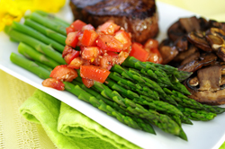 Asparagus with Fresh Tomato Garnish