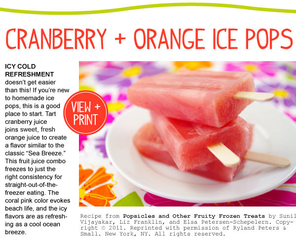 Cranberry Orange Pops