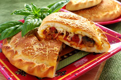 Sausage and Mushroom Calzones