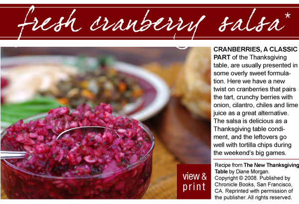 Recipe: Fresh Cranberry Salsa