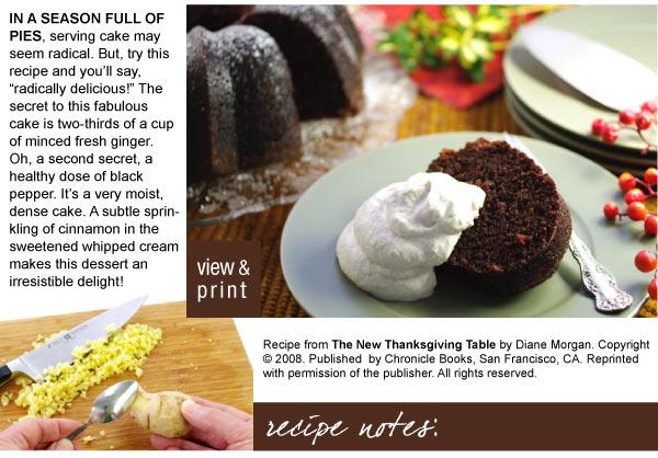 Recipe: Molasses Gingerbread Cake