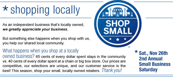 Shop Locally!