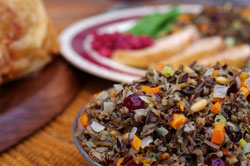 Minnesota Wild Rice Dressing with Dried Fruits