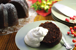 Molasses Gingerbread Cake with Cinnamon Whipped Cream