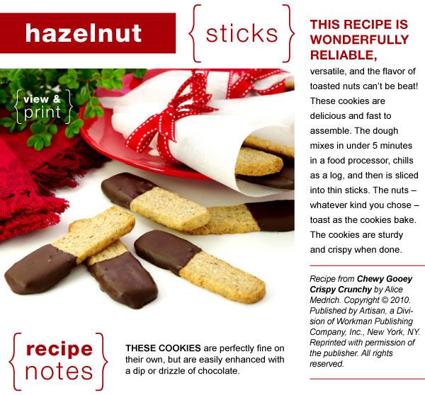 Recipe - Hazelnut Sticks