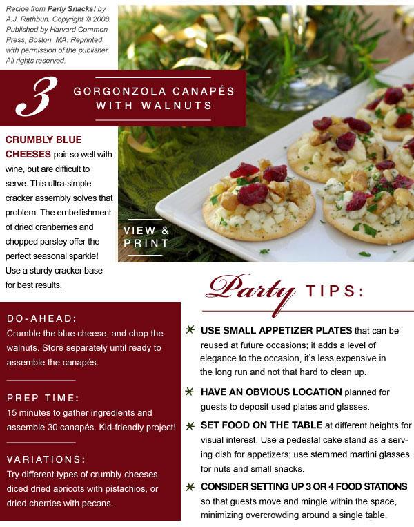 Gorgonzola Canapes