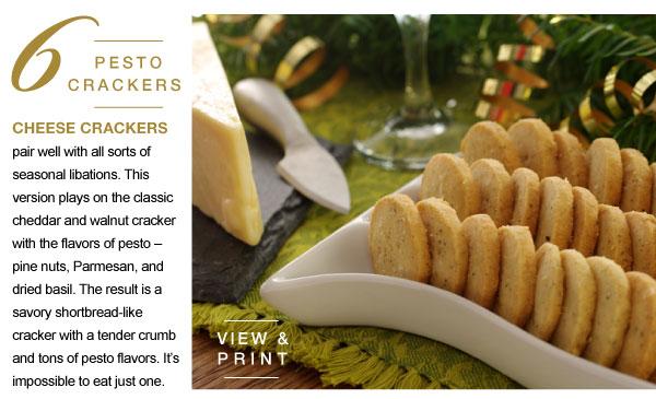 Pesto Crackers