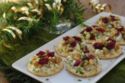 Gorgonzola Canapés with Walnuts
