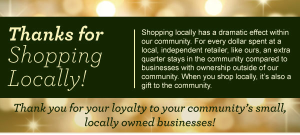 Thanks for Shopping Locally