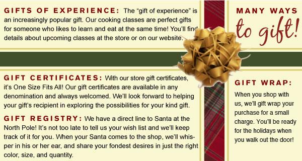 Many Ways to Gift