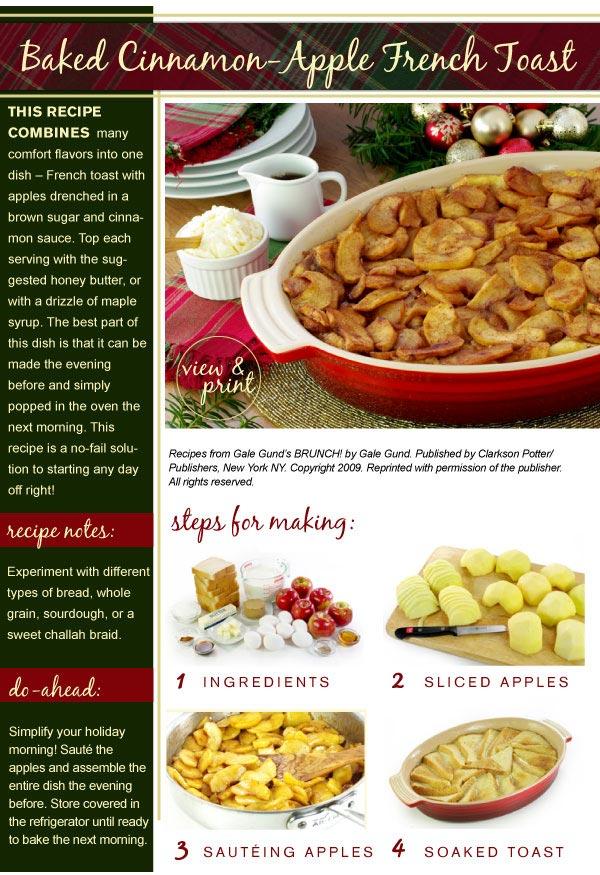 RECIPE: Baked Cinnamon Apple French Toast