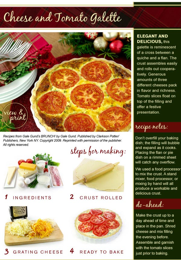 RECIPE: Cheese and Tomato Galette