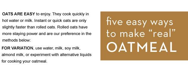 Easy ways to Make Oatmeal