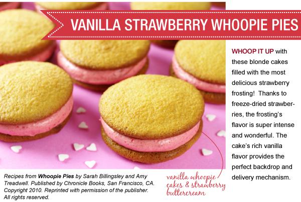 RECIPE: Vanilla Strawberry Whoopie Pies