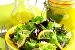 Preserved Lemons & Greens with a Lemon-Honey Vinaigrette