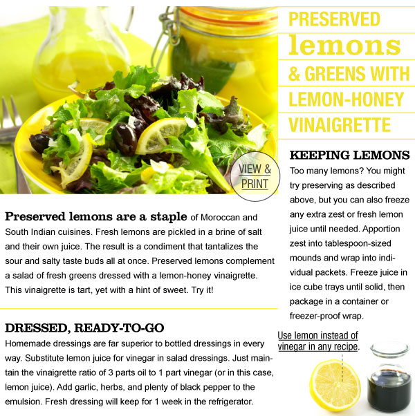 RECIPE: Preserved Lemons and Vinaigrette