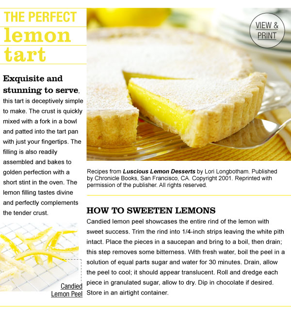 RECIPE: The Perfect Lemon Tart