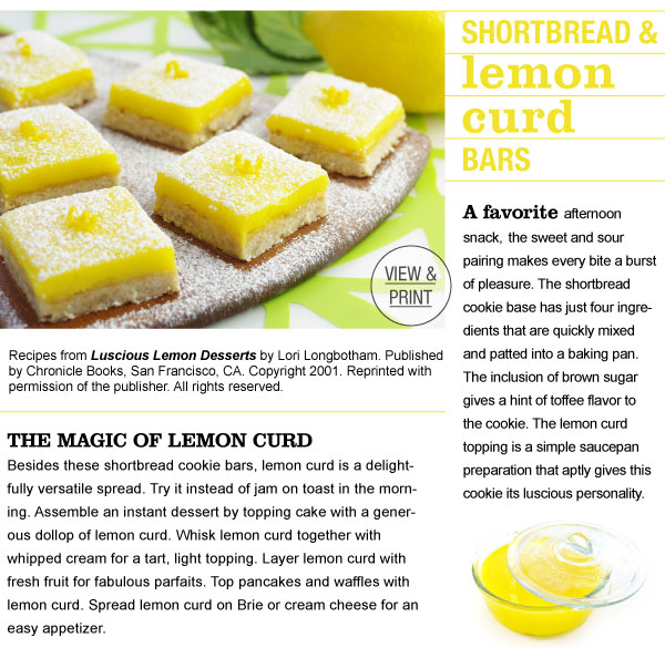 RECIPE: Shortbread & Lemon Curd Bars