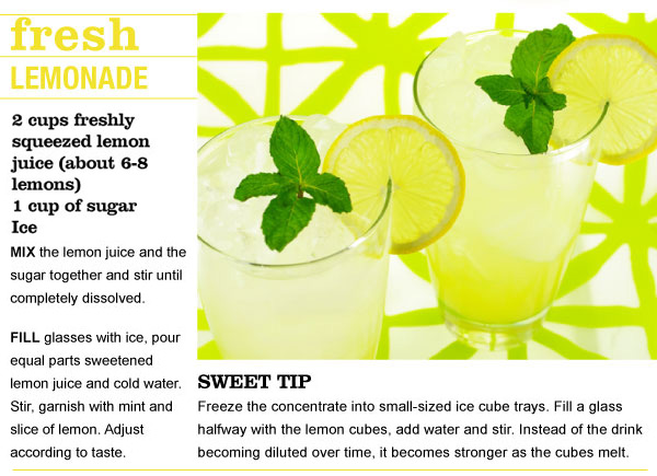 RECIPE: Fresh Lemonade