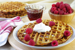 Whole-Wheat Corn Waffles
