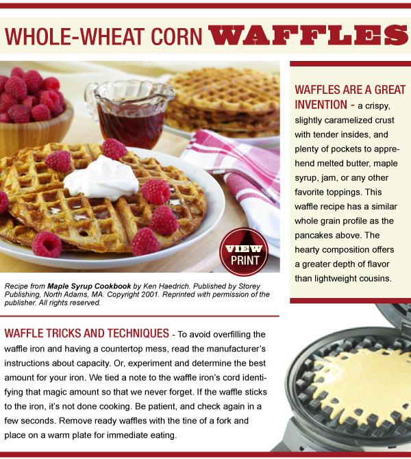 RECIPE: Whole-Wheat Corn Waffles