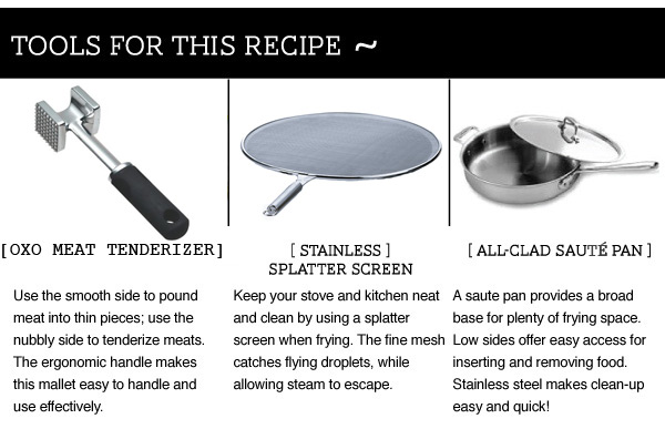 Tools for this Recipe