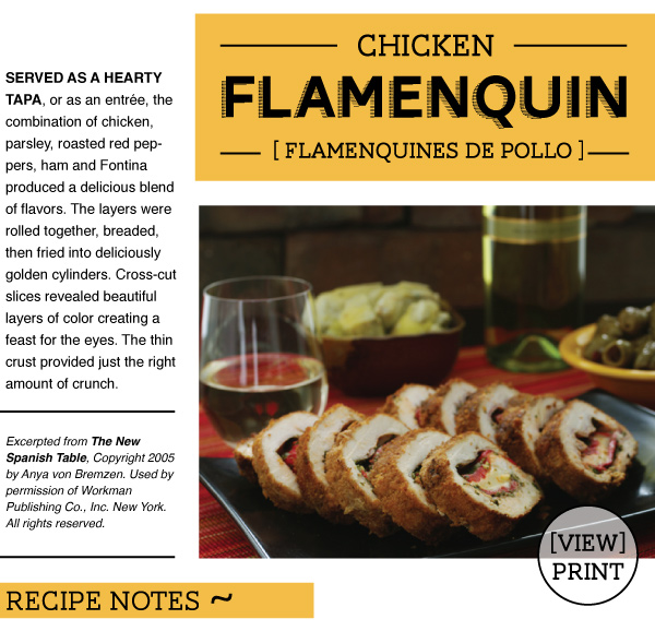 RECIPE: Chicken Flamenquin