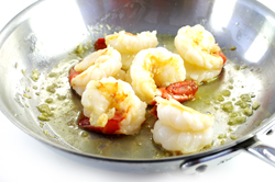 Sauteeing Shrimp