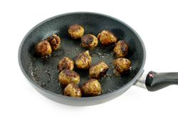 Meatballs Frying