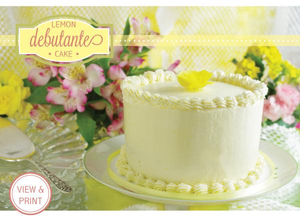 RECIPE: Lemon Debutante Cake