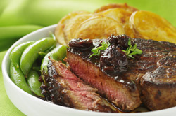FILET with CHERRY and RED WINE SAUCE