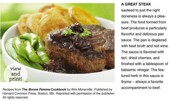 RECIPE: Filet or Faux Filet with Cherry and Red Wine Sauce