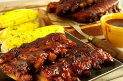 APRICOT-GLAZED BABY BACK RIBS