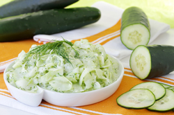 CUCUMBER with SOUR CREAM or YOGURT