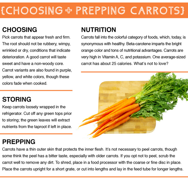 Choosing + Prepping Carrots