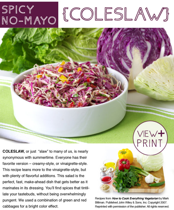 RECIPE: Spicy No-Mayo Coleslaw