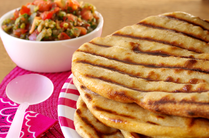 Cumin Naan with Grilled Tomato Chutney