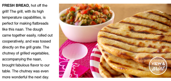 RECIPE: Cumin Naan with Grilled Tomato Chutney